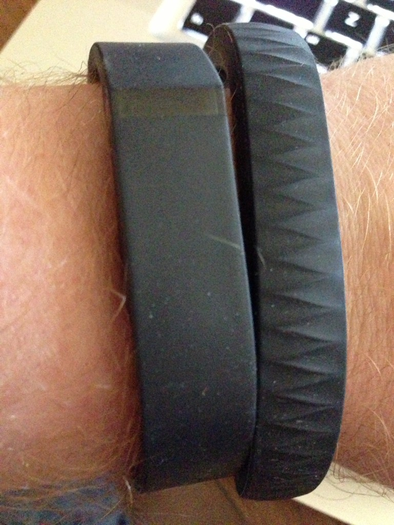 Up & Fitbit on the same arm