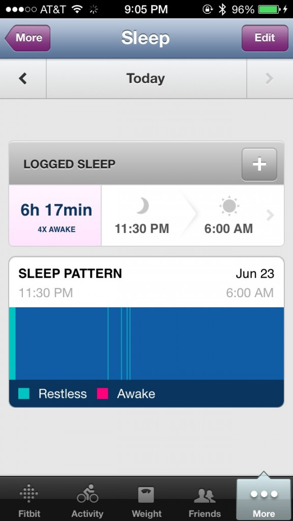 Fitbit app sleep data